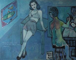"Studio #2. Oil on canvas. 48"" x 60"""