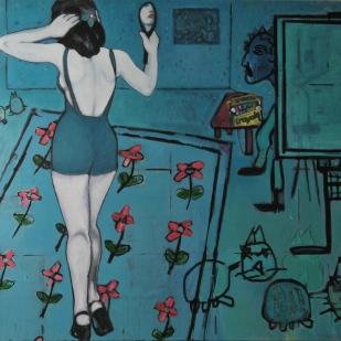 "Studio #1. Oil on canvas. 48"" x 60"""